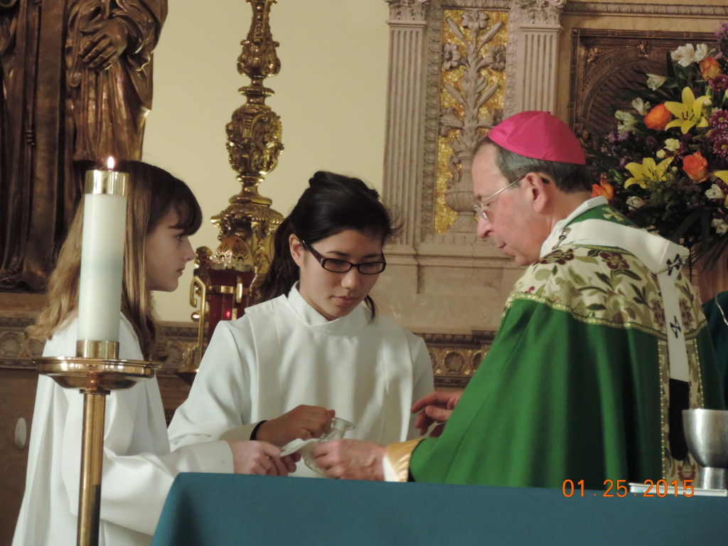 Mass at St. Casimirs 1-25-15