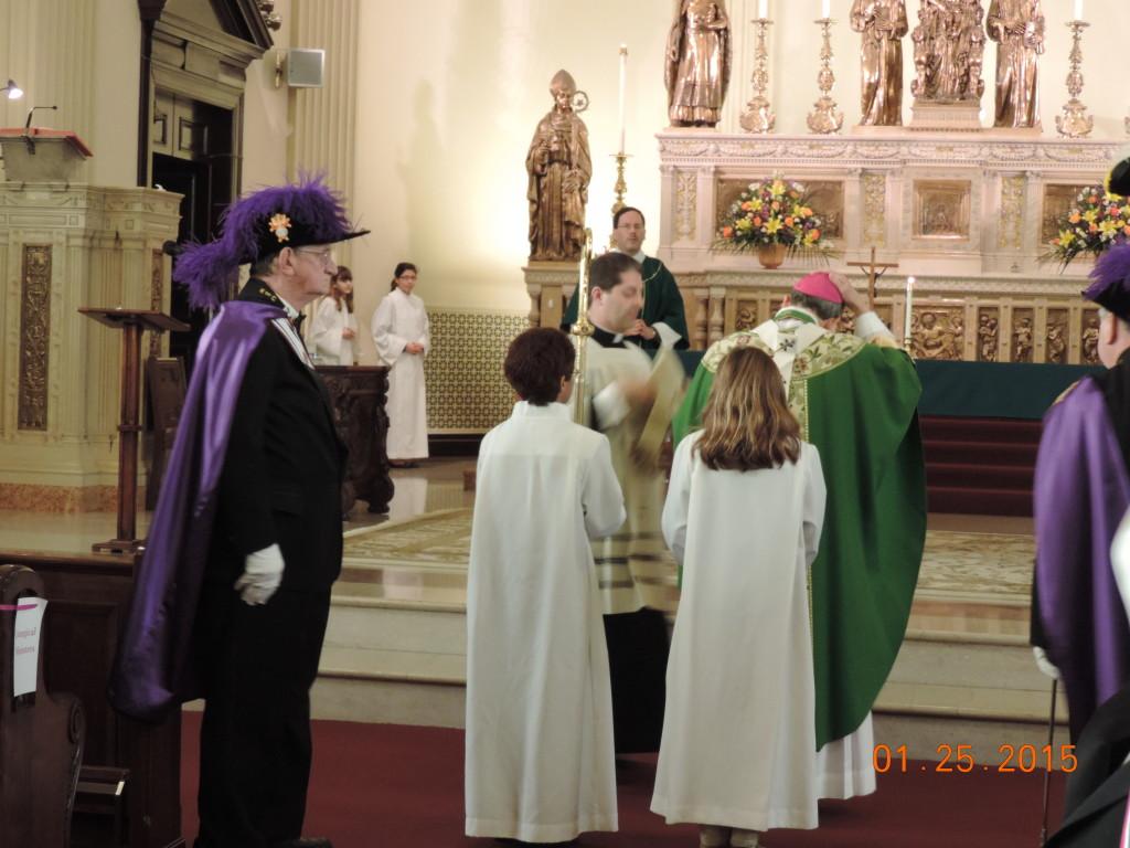 Starting mass at St. Casimir church 1-25-15